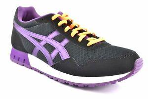 Asics-Curreo-Black-Purple-noir-Sneaker-Chaussures-Shoes-Chaussures-De-Sport-Taille-au-choix