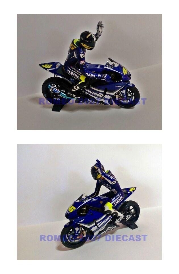 1 12 Set Minichamps Bike + Conversion Figure Valentino Rossi Jerez Test 2007