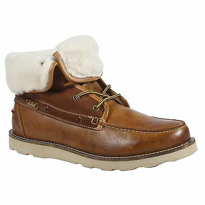 GBX MEN'S TAN LEATHER ANKLE BOOTS  STYLE # 133504