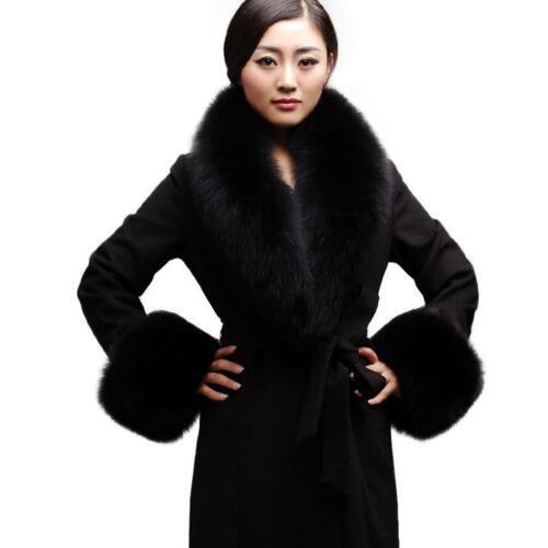 Lady Real Vulpes Lagopus Fox Fur Collar Scarves Soft Cozy Fur Collar Luxury Wrap