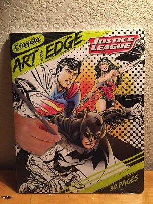 Crayola Art With Edge Justice League Collection Adult Coloring Book New Ebay