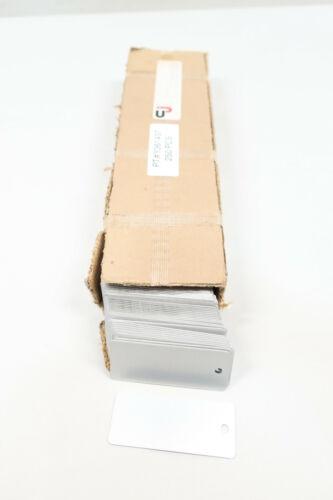 Box Of 250 Cj Y361437 Blank Aluminum Tag Tor 3x1.25x3//16-a