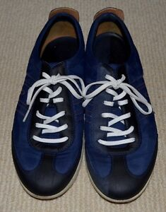 Ecco-Jogga-Men-Navy-Blue-Sneakers-Leather-Breathable-Shoes-Size-EU-40