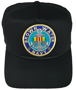 e2ce8035 BROWN WATER NAVY VIETNAM SERVICE RIBBON HAT CAP USN SWIFT BOAT ...