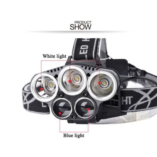 Superbright Aluminum LED Headtorch 18650 Push Switch Strobe Lamp Headlight Hike