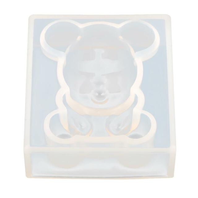 DIY Bear Silicone Mould Jewelry Pendant Resin Casting Craft Making Mold Tool