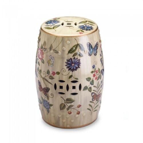 New Floral Garden Stool Indoor Outdoor Classic Side Accent Table