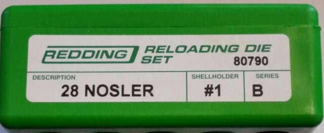 80790 REDDING 2-DIE FULL LENGTH DIE SET - 28 NOSLER - BRAND NEW - FREE  SHIPPING