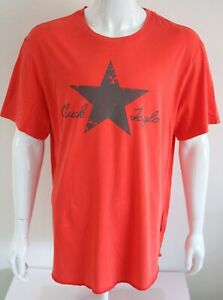 T-Shirt-Converse-Chuck-Taylor-Herren-Graphic-Tee-Orange-100-Baumwolle-Groesse-XL
