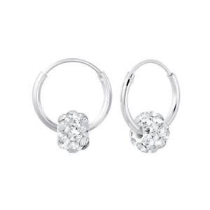 925 Sterling Silver Childrens Girls Coloured HOOP Earrings Macaroon Gift Box