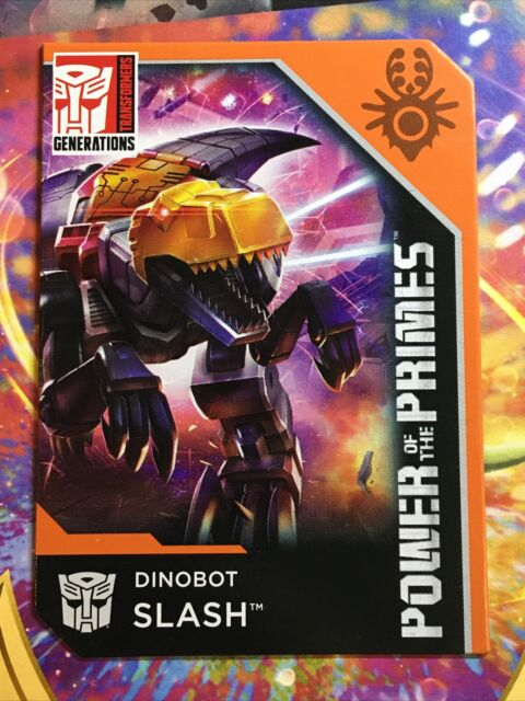 Transformers Power Of The Primes Dinobot Slash Quintus Slash Bio Card