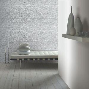 Rustique-Papier-Peint-Brique-Gris-Arthouse-889606-Mural-Neuf