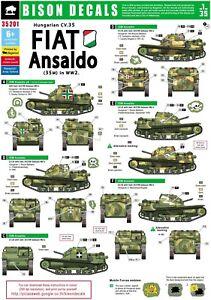 Bison-Decals-1-35-Hungarian-Fiat-Ansaldo-CV-35-in-WW2-35201