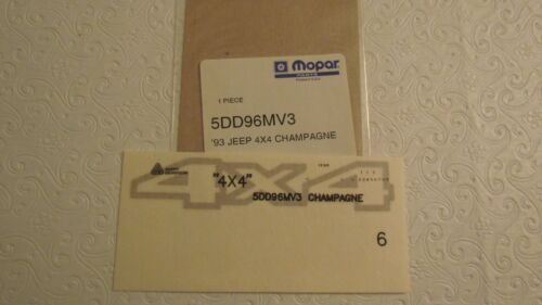 """New OEM Champagne Jeep Cherokee /""""4x4/"""" Decal Letter Kit 5DD96MV3"""