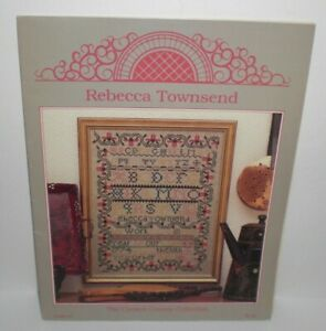 REBECCA-TOWNSEND-SAMPLER-Cross-Stitch-Chart-Leaflet-Chester-County-Collection-9