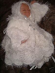 KNITTING PATTERN***NEWBORN BABY ANGEL CHRISTENING SET**