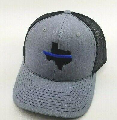 NEW Thin Blue Line Hat Cap Police Lives Matter Black Blue One Size Men Adult