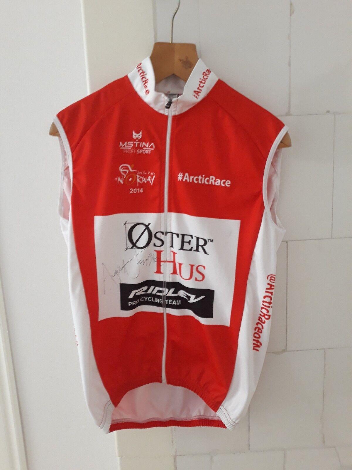 MSTINA Ridley Team Issue Senza Maniche Ciclismo in jersey ARTIC RACE Norvegia firmato