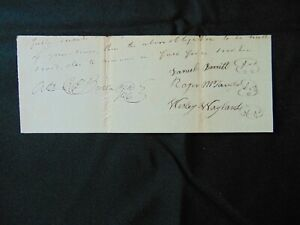 """""""Constitutional Convention"""" Pierce Butler Hand Signed Document W/ Co-Signers COA"""