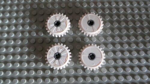 Lego Technic White Technic Gear 24 Tooth Clutch  x  4  p//n 60c01 ****NEW****