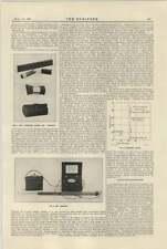 1921 oxyscope pyromike deposizione Telefono Cavo Tubi da spinta noioso