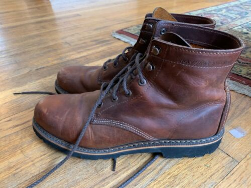 Wolverine 1000 Miles Brown Leather Boots 12