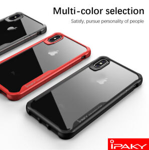 pretty nice f1a28 9769c Details about Original IPAKY For iPhone XR XS Max, Shockproof Soft Bumper  Hybrid Case Cover