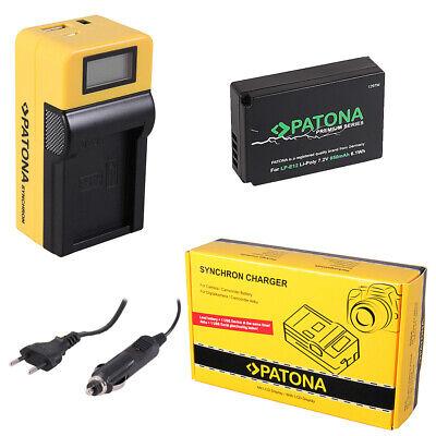 caricabatteria casa//auto per Canon LP-E12 Batteria Patona Premium