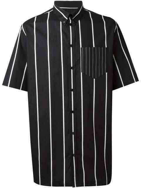 Givenchy Columbian Fit Boxy Striped Mens Shirt Overshirt Shirt NEW 38 RP650 € sale
