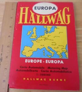 Hallwag Vintage 1960 S Map Of Europe 1 3 000 000 Ebay
