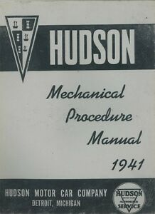 1941-Hudson-Shop-Service-Repair-Manual-Book-Engine-Drivetrain-Electrical-Guide
