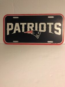 New-England-Patriots-Logo-Plastic-License-Plate-NEW-Free-Shipping