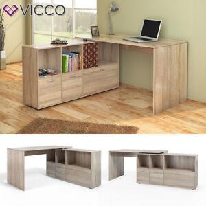 VICCO-bureau-du-coin-Flex-Tablette-de-bureau-pour-ordinateur-Chene-Sonoma