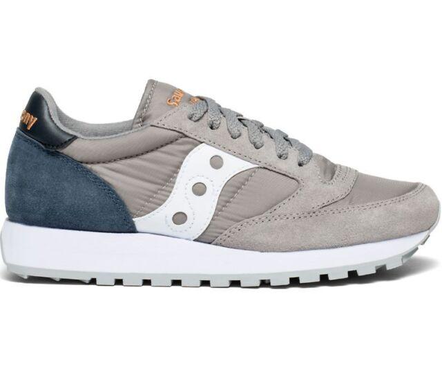 purchase cheap 936bb f7764 Saucony Women's Jazz Original Sneaker Shoes S1044-454 Grey / Navy