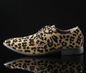 Lace punta leopardata Chic scarpe uomo formali scarpe da Up Casual Nightclub a qwgR8THg