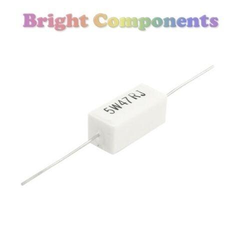 1st CLASS POST 2 x 4.7 Ohm 5W Cement Resistor 4R7 Resistors