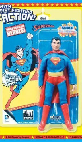 Super pouvoirs série 1 SUPERMAN 8 in environ 20.32 cm Figure Comme neuf sur scellé Carte MEGO Fist Fighter