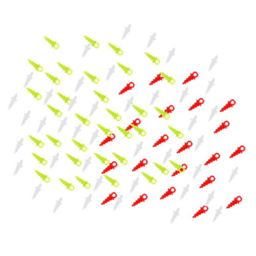 100 Pieces Pop Up Bait Carp Fishing Connection Bait Screw Tackle Mixed Color