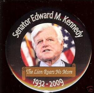 2009-TED-KENNEDY-PIN-Memorial-LION-Roars-no-More