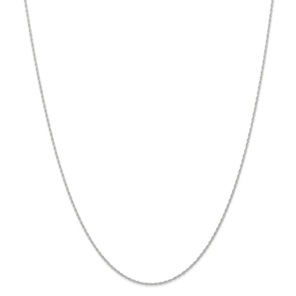 14kt White gold .95 mm Carded Cable Rope Chain; 20 inch