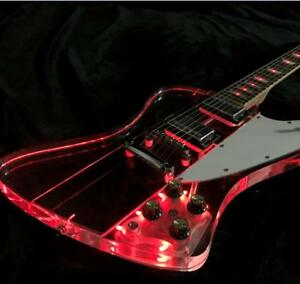 firebirds led light electric guitar red led acrylic guitar body wholesales stock 6799681187073. Black Bedroom Furniture Sets. Home Design Ideas