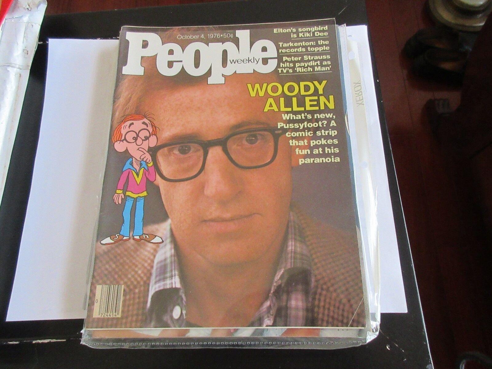 Woody Allen , People Magazine , 10/4/76 , Elton John ,