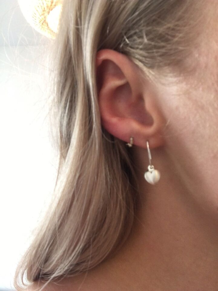 Øreringe, sølv