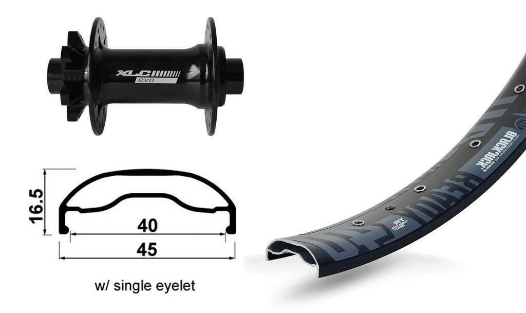XLC 27,5″  Front Wheel Rodi Ready 40 Disc + XLC Evo Boost 6-hole  support wholesale retail