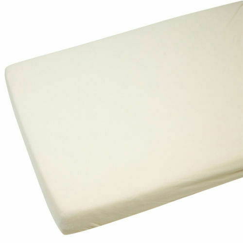 Cot Bed 100/% Cotton Jersey Fitted Sheet 140 x 70 cm Cream