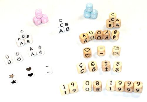 Schnullerkette mit Namen Waldtiere Baby Junge Mädchen personalisiert Doppelname