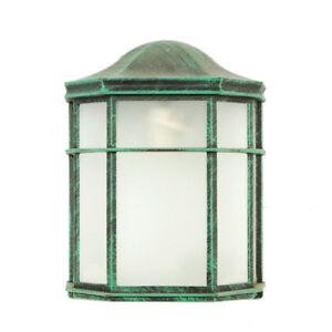 Image Is Loading Weather Resistant Sconce Garden Lamp Verde Green Outdoor