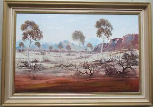 Large-Henk-Guth-Central-Australian-landscape-oil-on-board-71cm-x-46cm