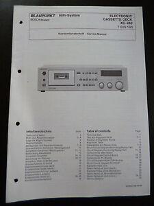 100% Wahr Original Service Manual Blaupunkt Cassette Deck Xc-1400