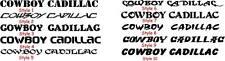 Cowboy Cadillac window sticker rodeo roping free ship!!!